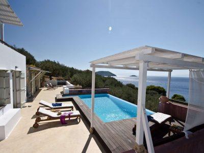 Villa Cybele in Skopelos Greece, pool, by Olive Villa Rentals