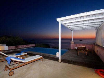 Villa Cybele in Skopelos Greece, sunset 3, by Olive Villa Rentals