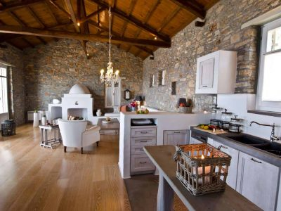 Villa Cybele in Skopelos Greece, kitchen 2, by Olive Villa Rentals