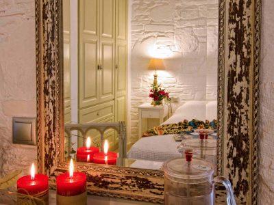 Pool Villa Selene in Skopelos Greece, bedroom, by Olive Villa Rentals