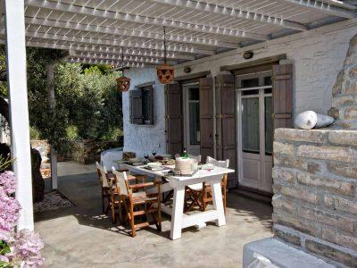 Pool Villa Selene in Skopelos Greece, dining table 3, by Olive Villa Rentals