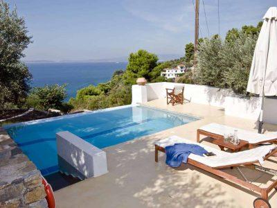 Pool Villa Selene in Skopelos Greece, pool, by Olive Villa Rentals