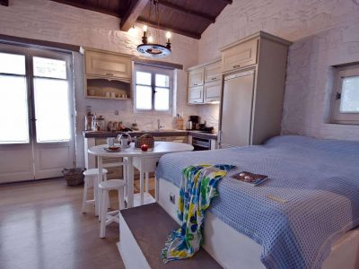 Pool Villa Selene in Skopelos Greece, bedroom 7, by Olive Villa Rentals