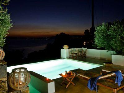 Pool Villa Selene in Skopelos Greece, sea view, by Olive Villa Rentals