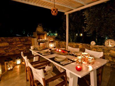 Pool Villa Selene in Skopelos Greece, dining table 7, by Olive Villa Rentals