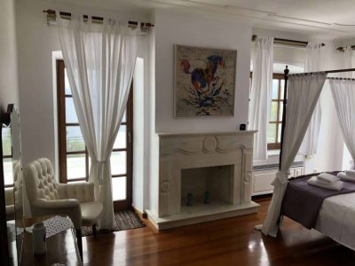 Villa Camelia in Spetses Greece, fireplace, by Olive Villa Rentals