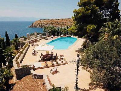Villa Camelia in Spetses Greece, pool, by Olive Villa Rentals