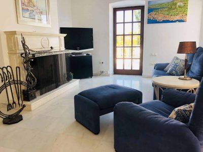 Villa Camelia in Spetses Greece, living room 3, by Olive Villa Rentals
