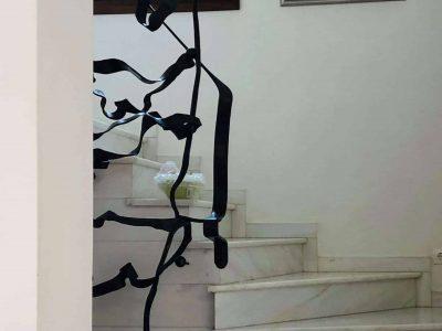 Villa Camelia in Spetses Greece, stairway, by Olive Villa Rentals