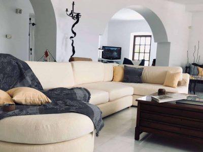 Villa Camelia in Spetses Greece, living room 4, by Olive Villa Rentals