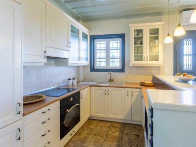 Villa Corinna in Spetses Greece, kitchen, by Olive Villa Rentals