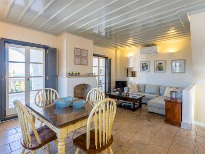 Villa Corinna in Spetses Greece, living room, by Olive Villa Rentals