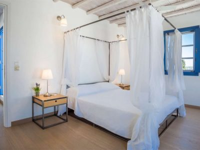 Villa Kastalia in Spetses Greece, bedroom, by Olive Villa Rentals