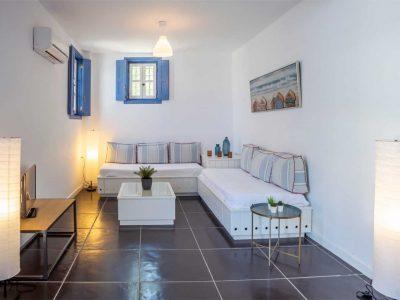 Villa Kastalia in Spetses Greece, small room, by Olive Villa Rentals