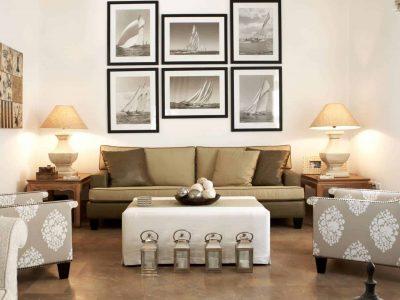 Villa Marina in Spetses Greece, living room 2, by Olive Villa Rentals