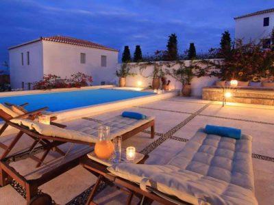Villa Matilda in Spetses Greece, pool 4, by Olive Villa Rentals