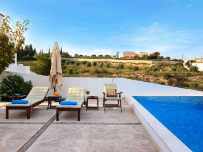 Villa Matilda in Spetses Greece, pool, by Olive Villa Rentals