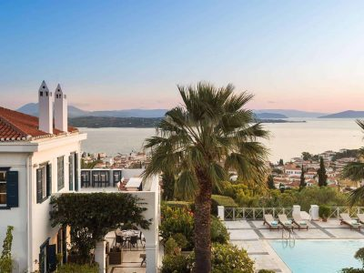 Villa Pegasus in Spetses Greece, sea view, by Olive Villa Rentals