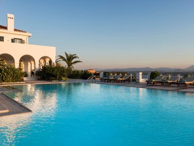 Villa Pegasus in Spetses Greece, pool, by Olive Villa Rentals