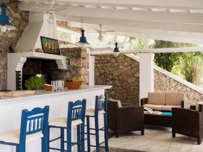 Villa Pegasus in Spetses Greece, outside, by Olive Villa Rentals