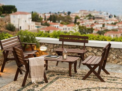 Villa Pegasus in Spetses Greece, balcony, by Olive Villa Rentals
