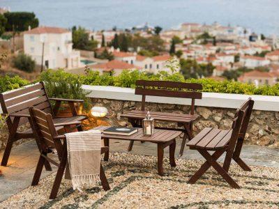 Villa Pegasus in Spetses Greece, balcony, by Olive Villa Rentals
