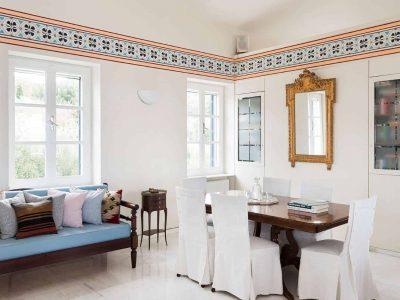 Villa Pegasus in Spetses Greece, living room, by Olive Villa Rentals