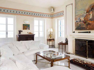 Villa Pegasus in Spetses Greece, living room 2, by Olive Villa Rentals