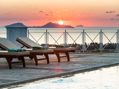 Villa Pegasus in Spetses Greece, sunset, by Olive Villa Rentals