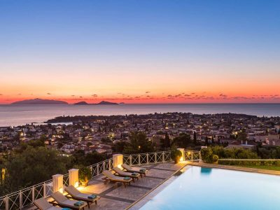 Villa Pegasus in Spetses Greece, sunset 2, by Olive Villa Rentals