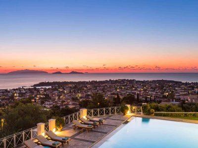 Villa Pegasus in Spetses Greece, sunset 2, by Olive Villa Rentals