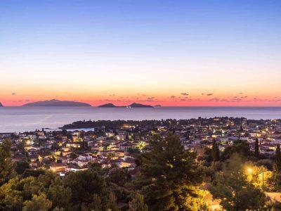 Villa Pegasus in Spetses Greece, sunset 3, by Olive Villa Rentals