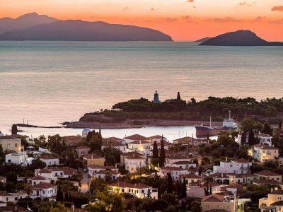 Villa Pegasus in Spetses Greece, sunset 4, by Olive Villa Rentals