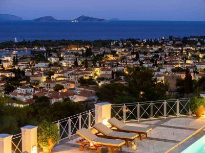 Villa Pegasus in Spetses Greece, view, by Olive Villa Rentals
