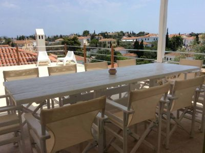 Villa Pitys in Spetses Greece, balcony, by Olive Villa Rentals