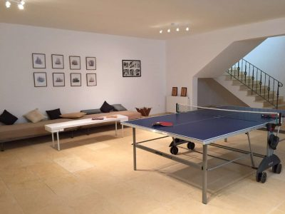 Villa Pitys in Spetses Greece, ping pong, by Olive Villa Rentals