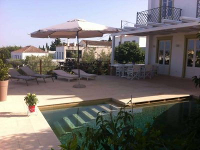 Villa Pitys in Spetses Greece, pool, by Olive Villa Rentals