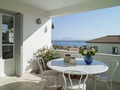 Villa Spezie in Spetses Greece, balcony, by Olive Villa Rentals