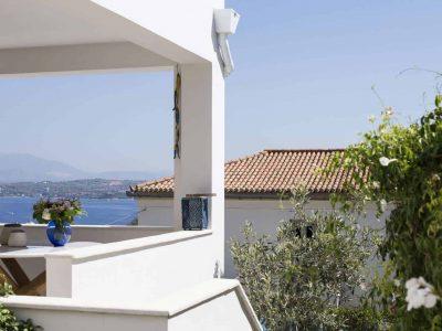 Villa Spezie in Spetses Greece, balcony 2, by Olive Villa Rentals