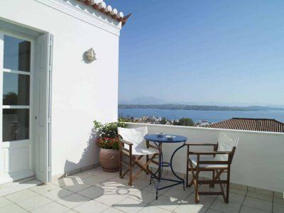 Villa Spezie in Spetses Greece, balcony 3, by Olive Villa Rentals