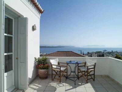 Villa Spezie in Spetses Greece, balcony 4, by Olive Villa Rentals