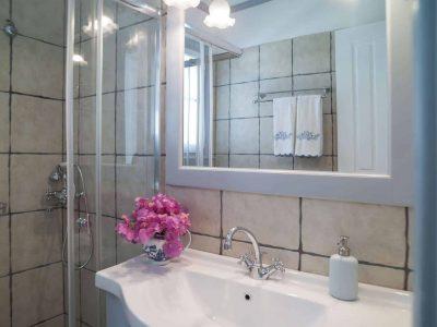 Villa Spezie in Spetses Greece, bathroom 2, by Olive Villa Rentals