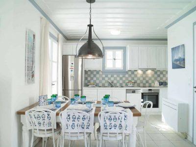 Villa Spezie in Spetses Greece, kitchen, by Olive Villa Rentals
