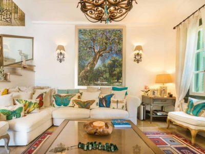 Villa Veneta in Spetses Greece, living room 3, by Olive Villa Rentals