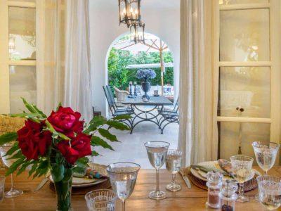 Villa Veneta in Spetses Greece, dining room 2, by Olive Villa Rentals