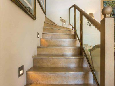 Villa Veneta in Spetses Greece, stairway, by Olive Villa Rentals