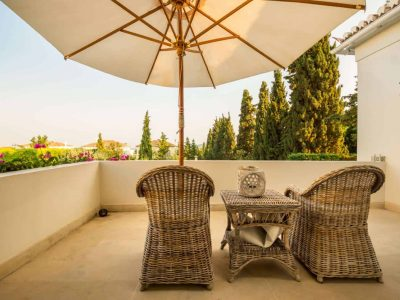 Villa Veneta in Spetses Greece, balcony, by Olive Villa Rentals