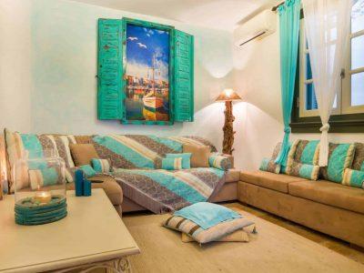 Villa Veneta in Spetses Greece, living room 5, by Olive Villa Rentals
