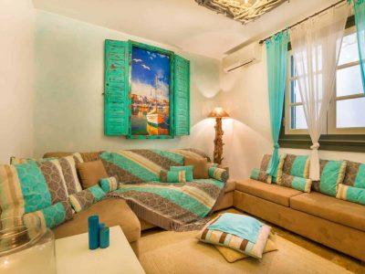 Villa Veneta in Spetses Greece, living room 6, by Olive Villa Rentals