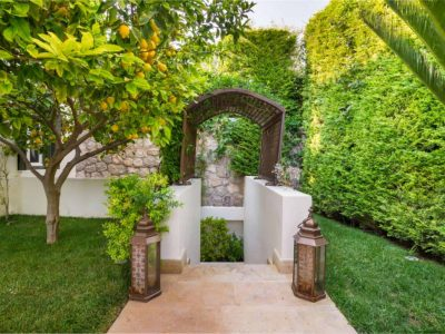 Villa Veneta in Spetses Greece, entrance 2, by Olive Villa Rentals